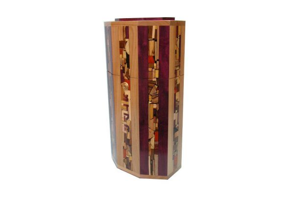 Synagogue Sized Tzedakah Box for Synagogues & Institutions - Wood Tzedakah Box - Shelf Mounting