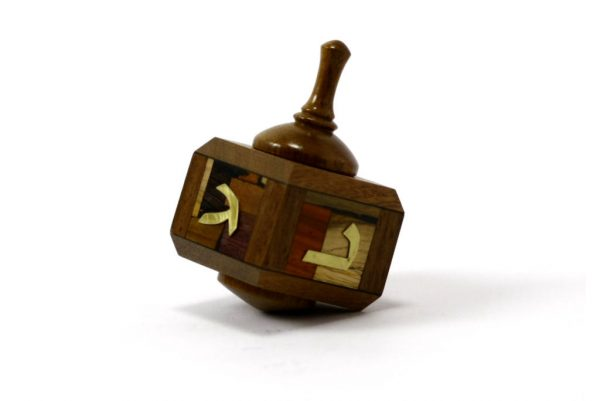 Wooden Dreidels-Judaica Gift-Hanukkah Game-Wood Dreidle-DRE-M-O-Rsewood-RWL-MG_3579.jpg