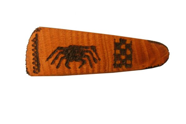 Spider Archaeology Barrete- Wooden Biblical Barrette- Ancient Ties Series-BAR-Spider-O-O