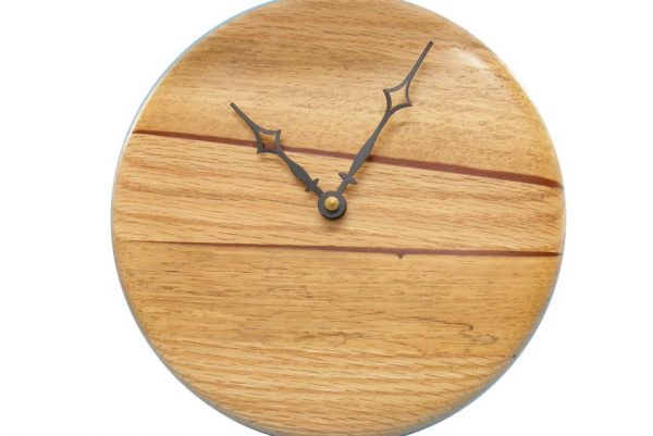 Modern Wood Wall Clock 2- Contemporary Kitchen Clock - Housewarming Gift - CLOCK-P1-O0multi2