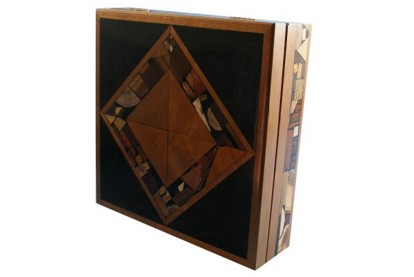 Large Mosaic Box - Interlocking-Squares - Jewelry-Box - Keepsake Box
