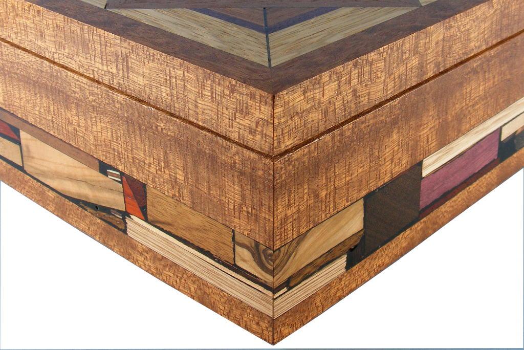 mosaic jewelry box medium keepsake box detail - Wood Jewelry Box
