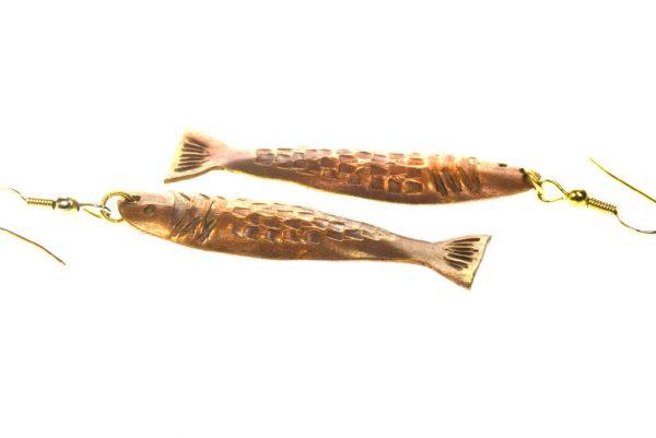 Copper Fish Earrings - Animal Earrings - Long & Light Earrings - Dangle Earrings - EARRINGS-CopperFish-7-Copper