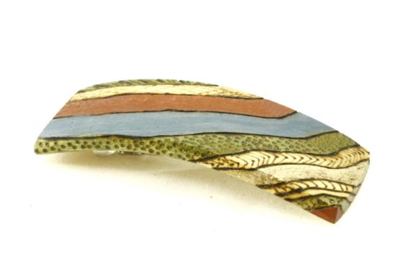 Decorated Wooden Barrette-Art Deco Hair Clip-Wedding Favor-BARRETTE-ArtDeco-3-maple-LCR-MG_4171