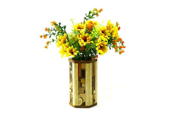 Decorative Vase-Wooden Flower Vase-Home Decor-Flower Arrangements-VAS-M-M-FrakSap-RWCL-_MG_4387