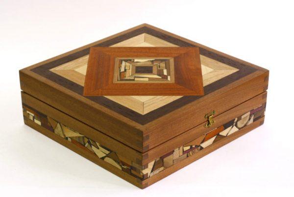Mosaic Tea Box-Decorative Tea Boxes-Wood Tea Chest-TEA-MF-9-sap-RWL-MG_3746