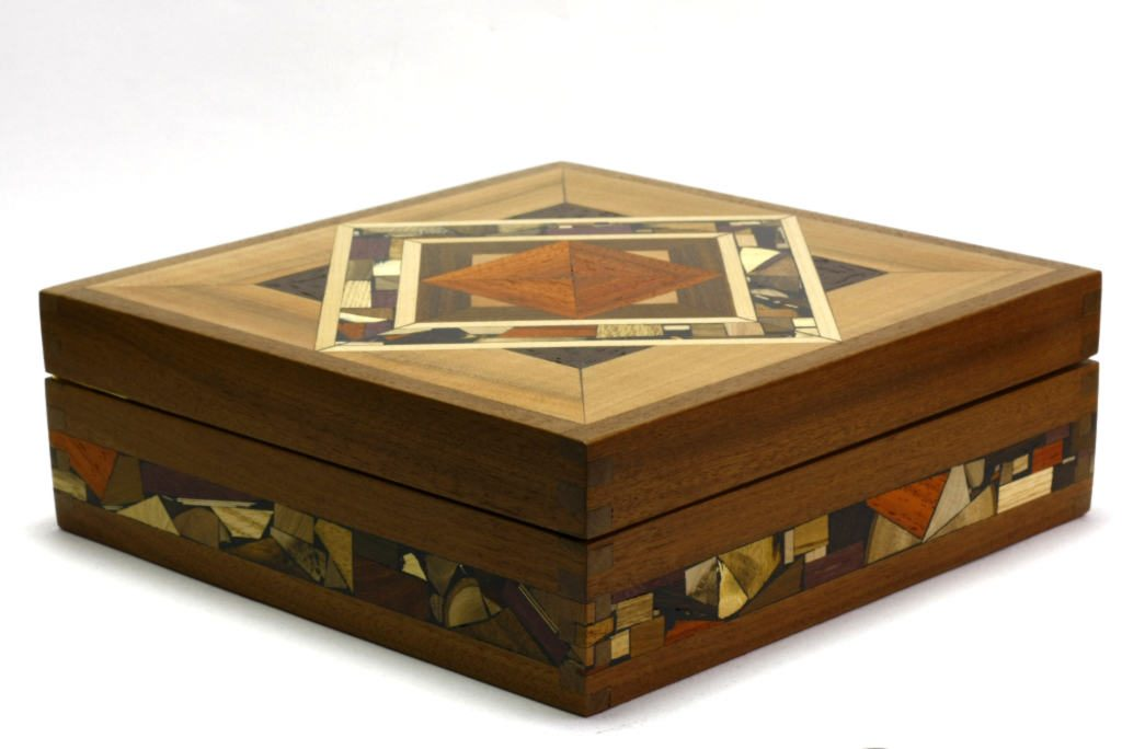 Mosaic Tea Box-Tea Bag Selection Box-Decorative Wooden Tea Box