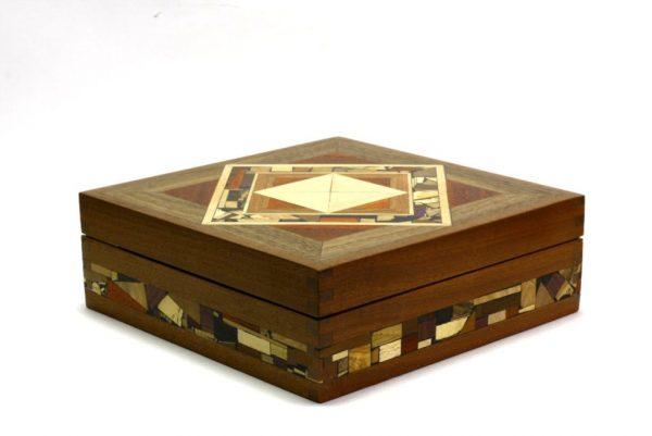 Mosaic Tea Box-Wooden Tea Box-Wooden Tea Storage Box-TEA-MF-9-sap-RWL-MG_3764