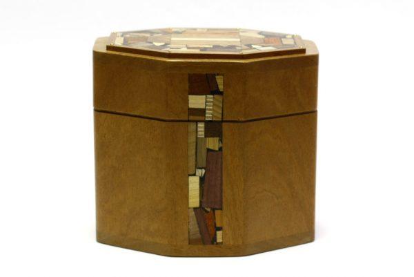 Octagonal Etrog Box-Sukkos Gift-Wooden Judaica-ETR-M4-O-Sap-RWL-MG_3856