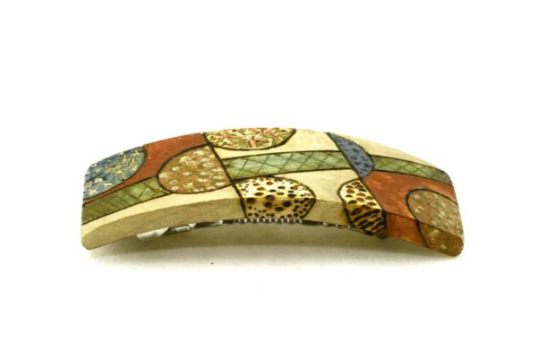 Wooden Barrette-Art Deco Barrette-Colorful Barrette-BARRETTE-ArtDeco-1-maple-LCR-MG_4156