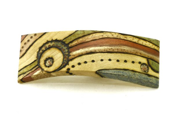 Womens Hair Clip-Art Deco Barrette-Hair Accessory-BARRETTE-ArtDeco-2-beech-LCR-MG_4164