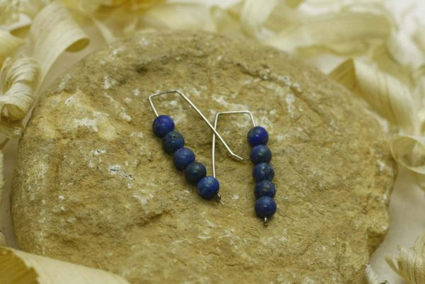 5 Stack Lapis Earrings-Simple & Elegant Earrings-Lapis Stone Jewelry-E-5StackLapis-4-sil-RWCL-_MG_4533