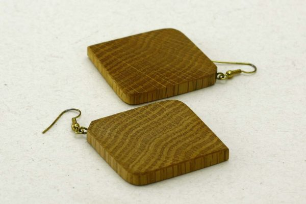 Square Oak Earrings-Jewelry Accessory-Simple Lightweight Earrings_E-SqOak-7.7-oak-RWCL-MG_4390