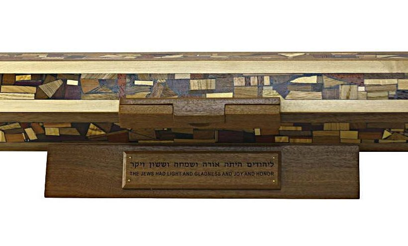 Wooden Megillah Case-Horizontal Open Megilah Case-Jewish Gifts-MEG-HO-23-multi-RWCropped-MG_4277